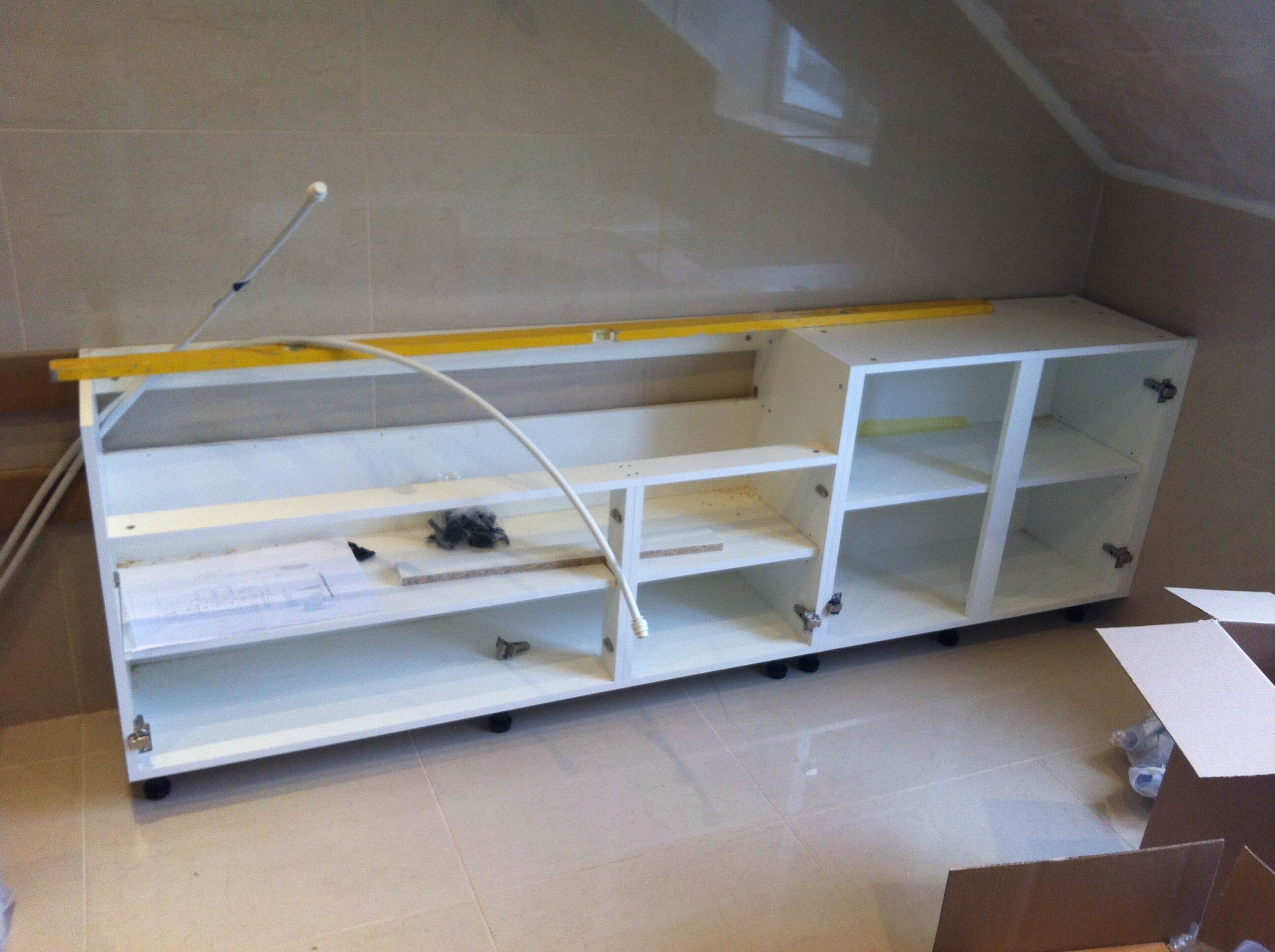 Units for the sinks and cupboards