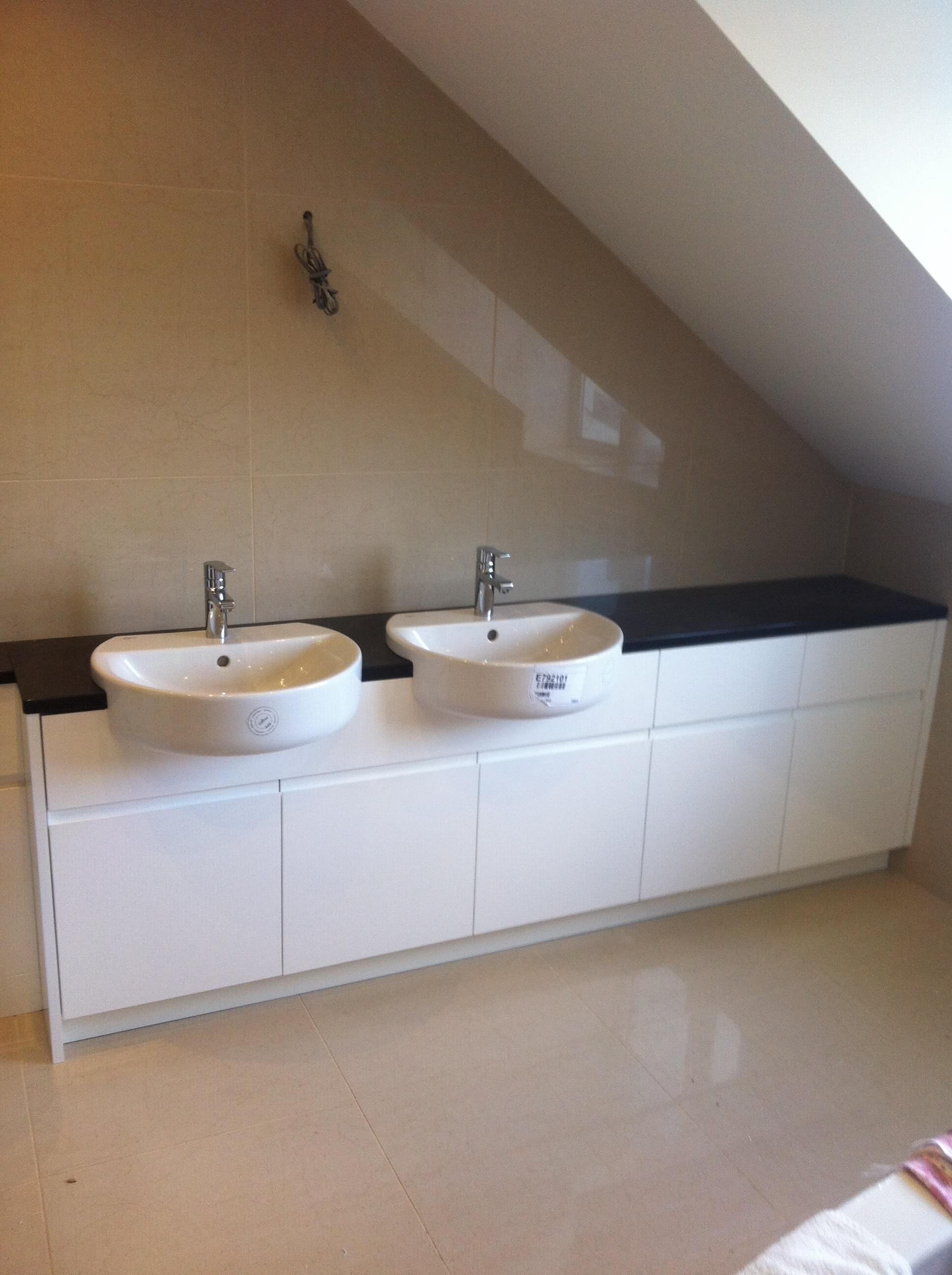 Finished vanity sinks for Mr & Mrs D of Barnstaple