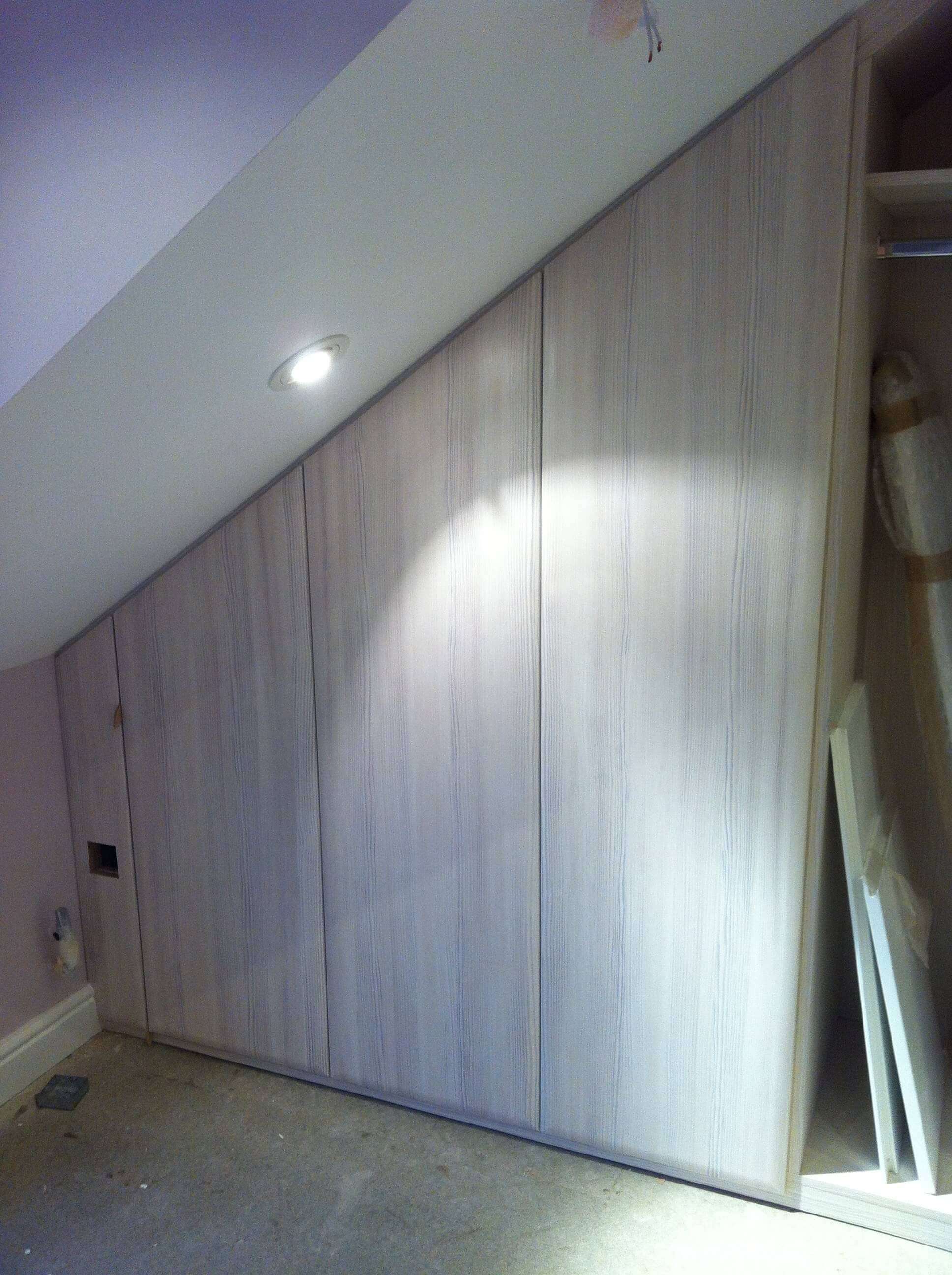 Angled Robe doors fitted