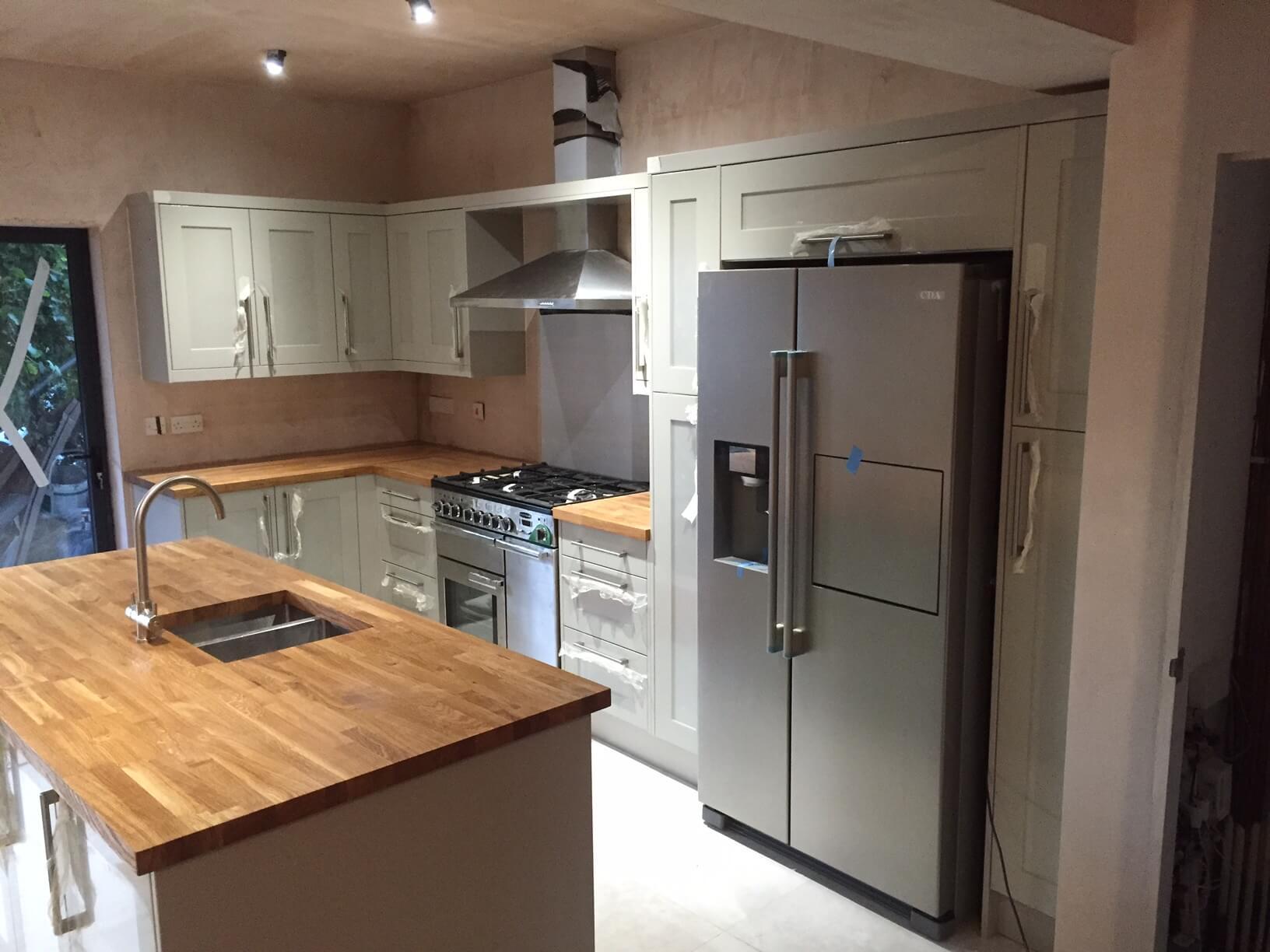 Painted Shaker Kitchen for Mr & Mrs Davies Bristol