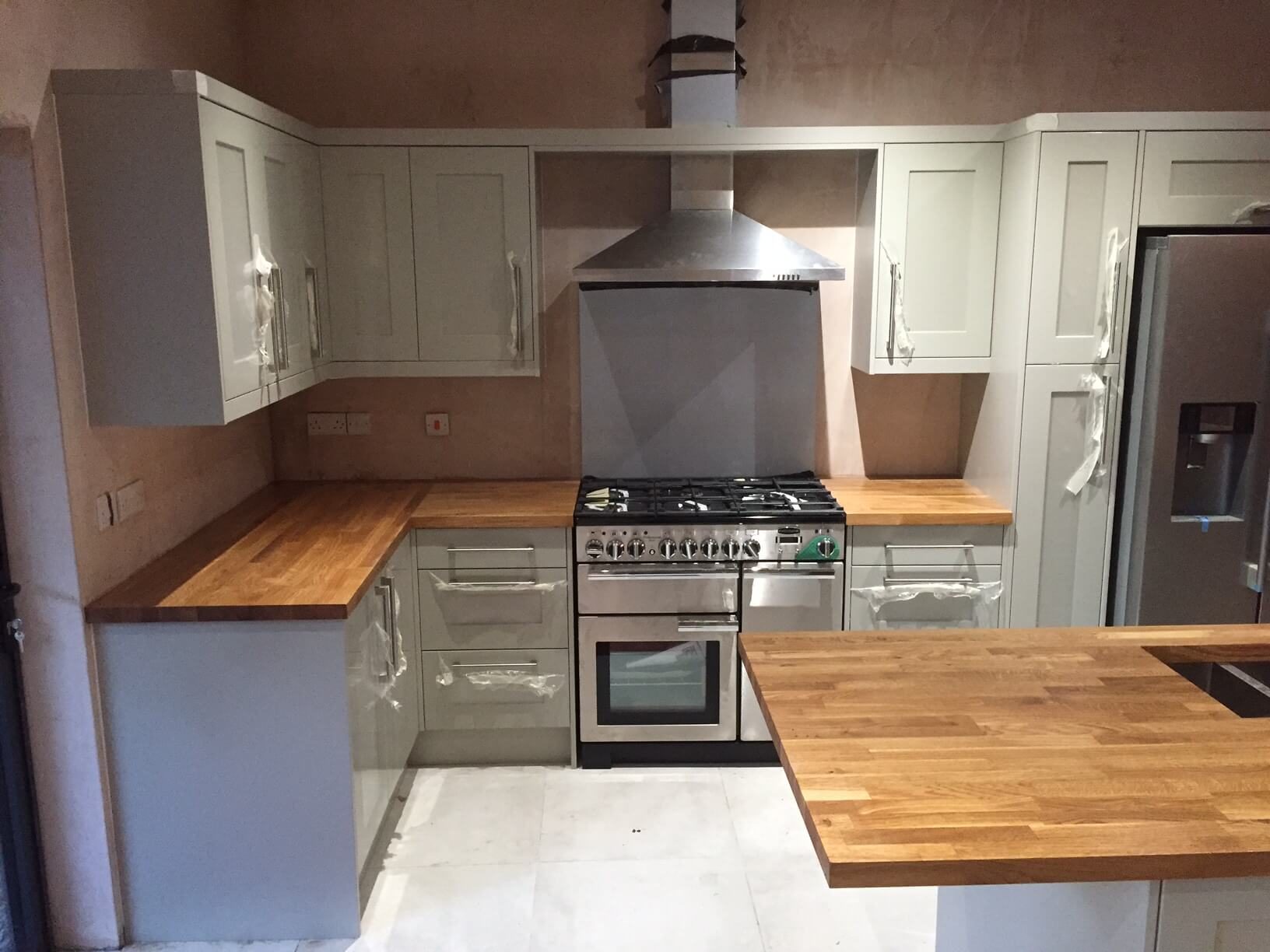 Finished Shaker Kitchen for Mr & Mrs Davies Bristol