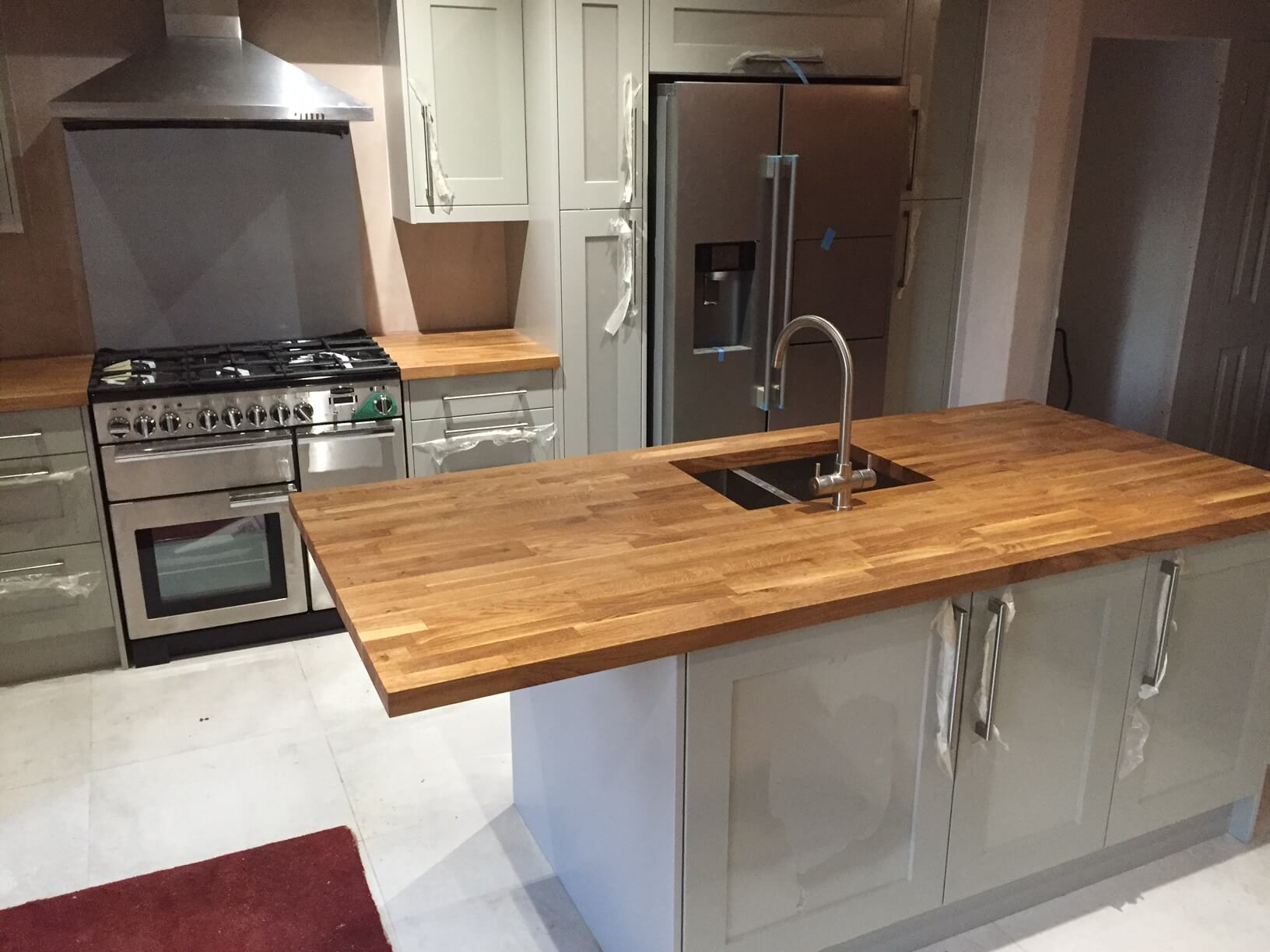 Finished Kitchen Island for Mr & Mrs Davies Bristol