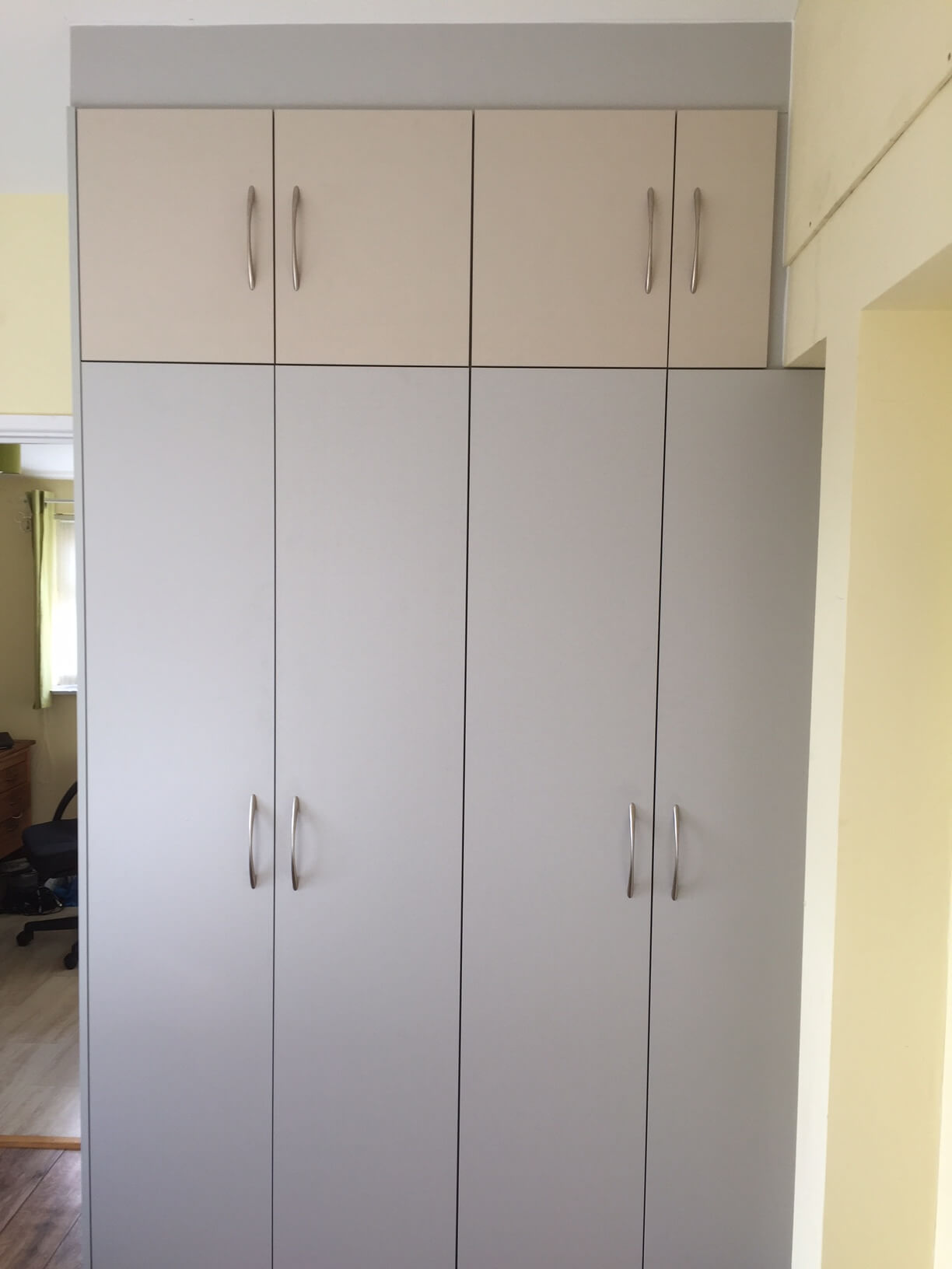 Two Tone Wardrobes in Crediton finished view