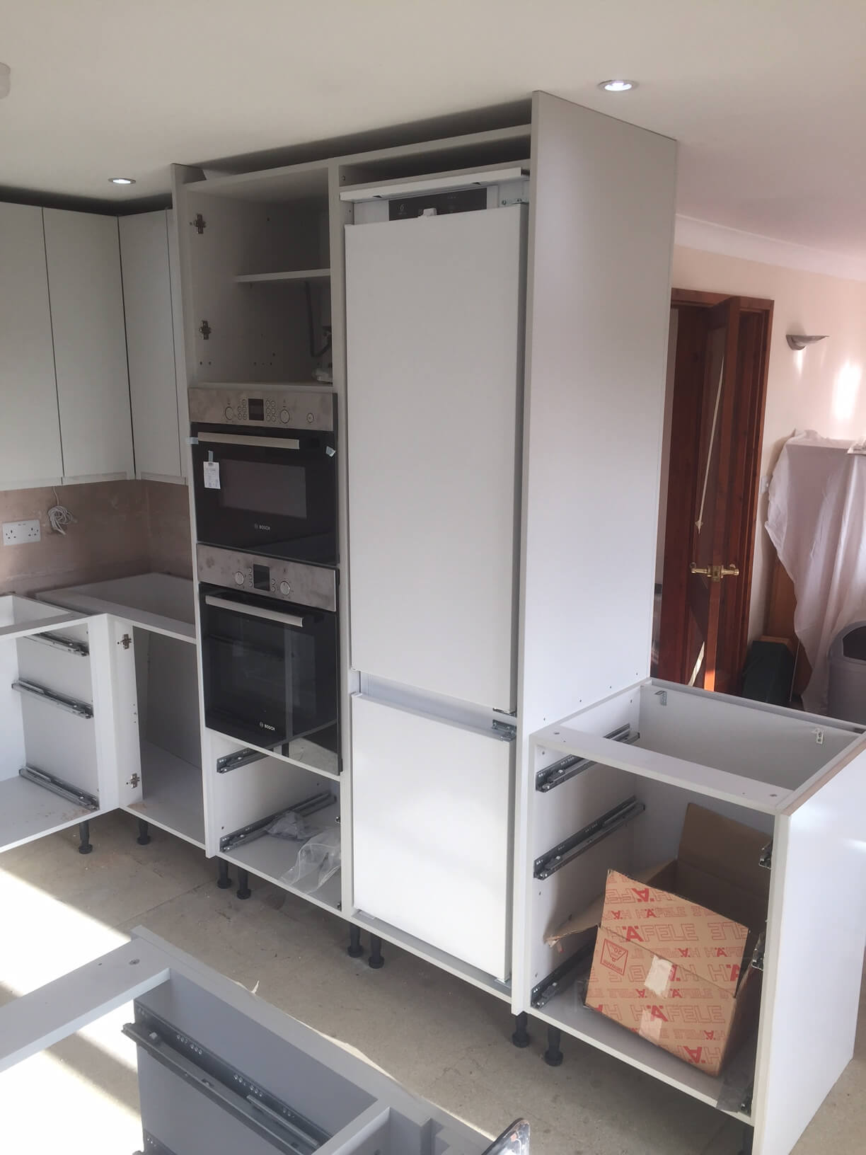 Microwave and Fridge In fitted