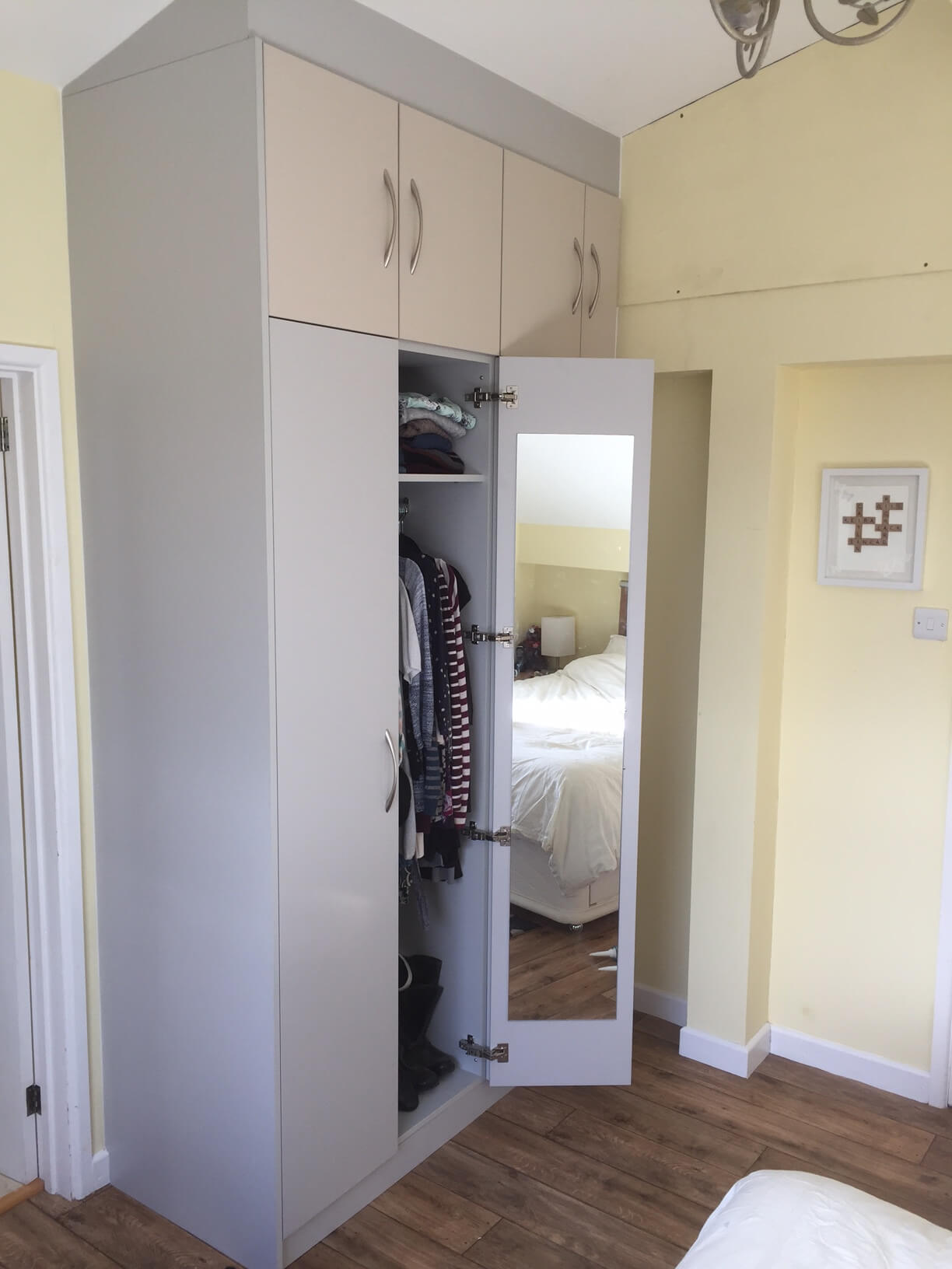 Two Tone Wardrobes With Mirror in Crediton