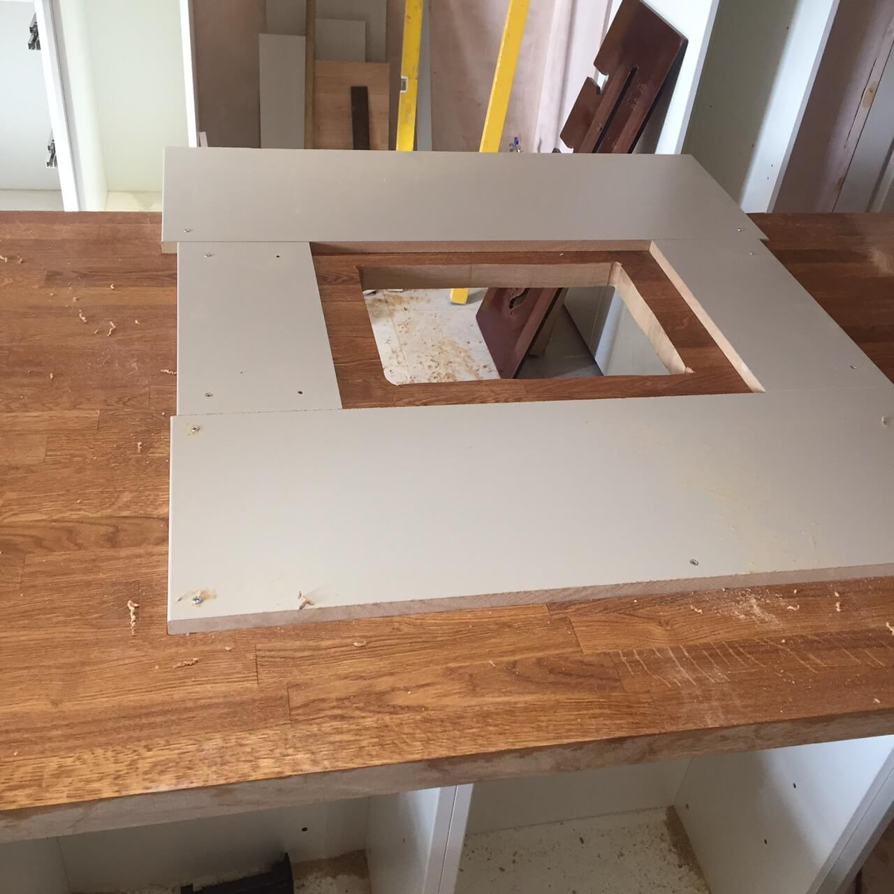 Jig To Cut Out Sink opening