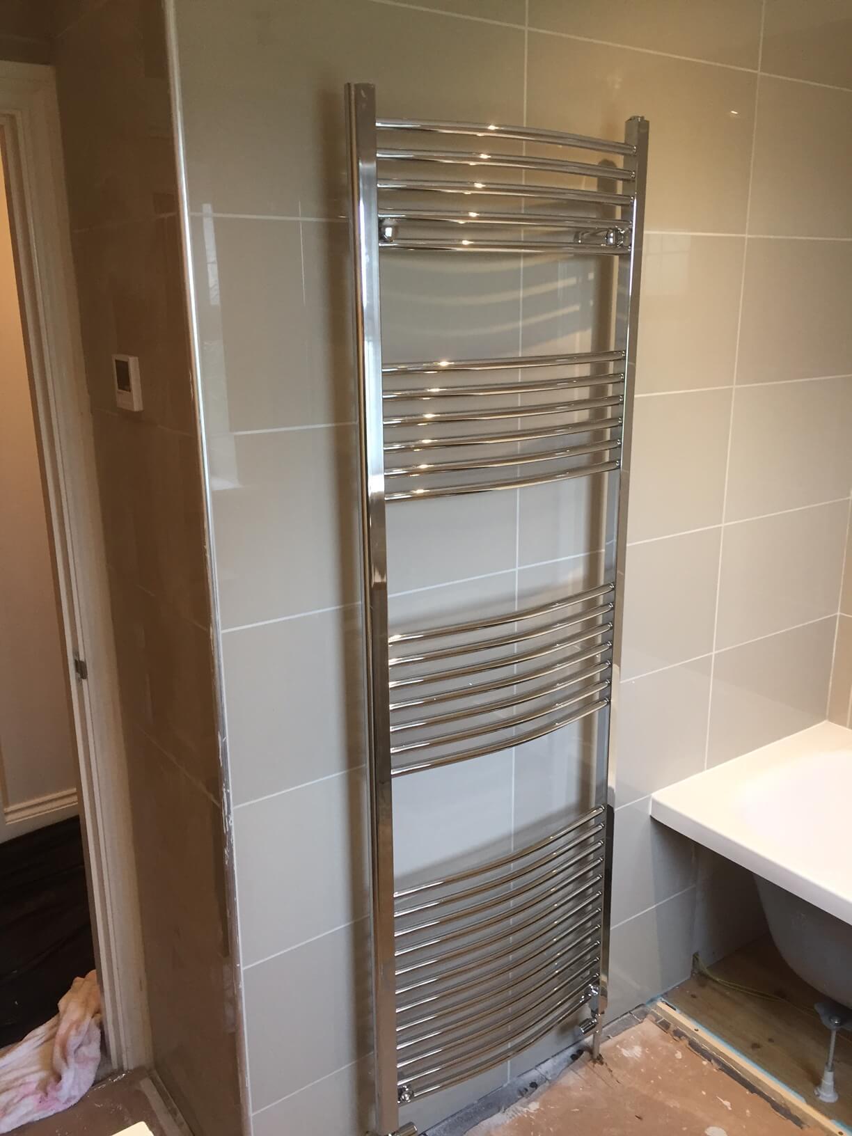 New tall radiator installed ready to go