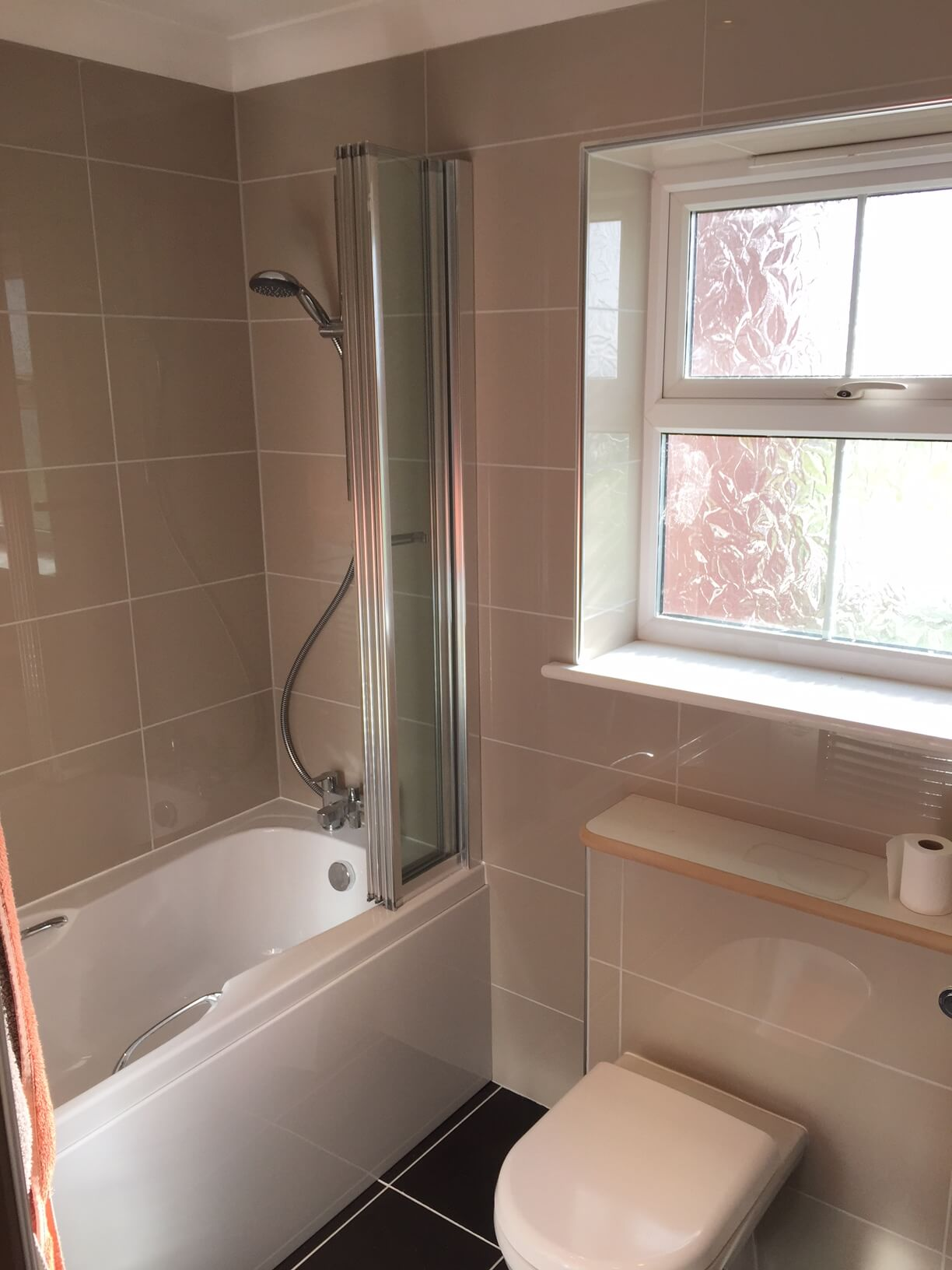 New shower and screen installed