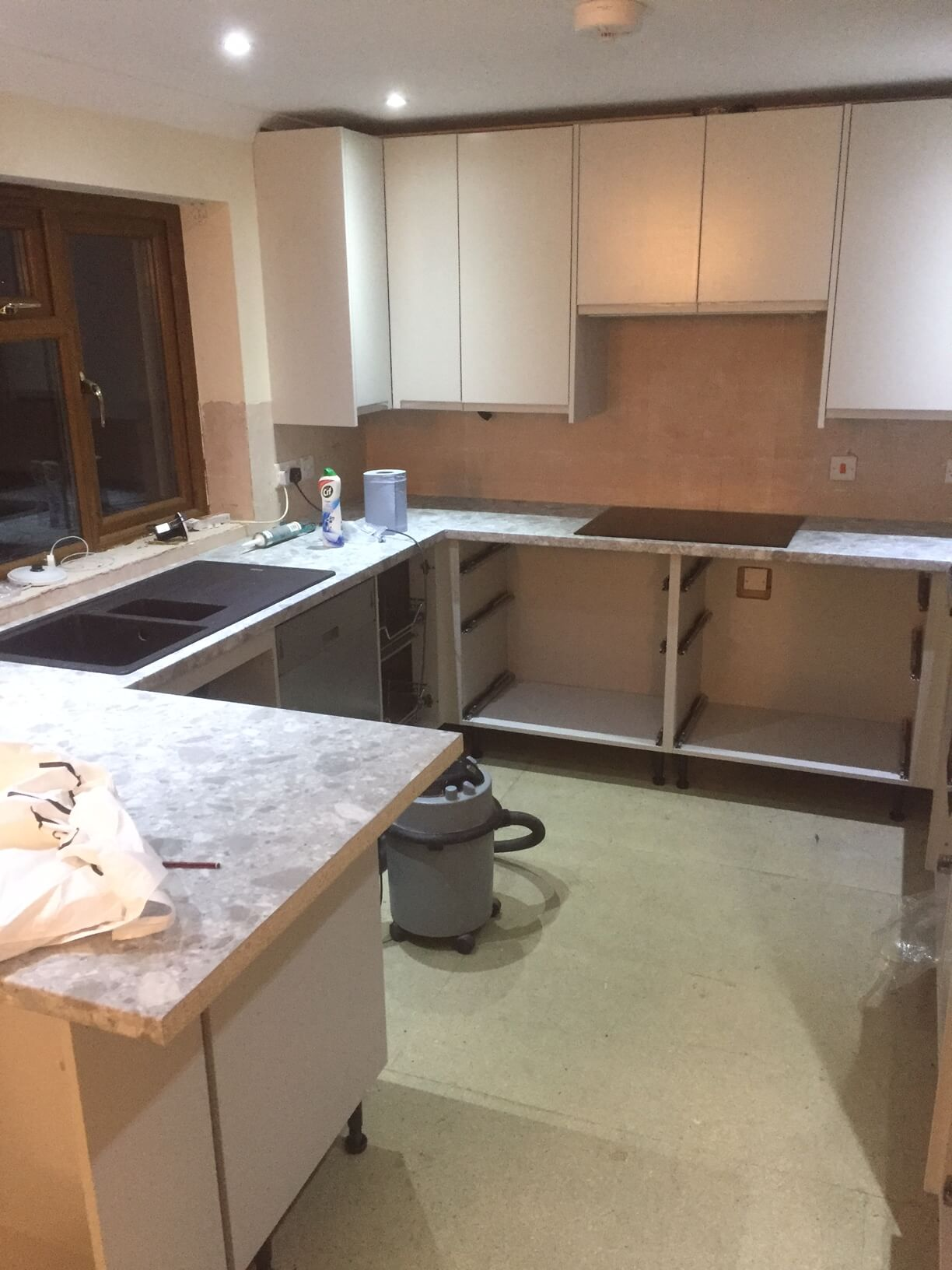 Starting the worktop