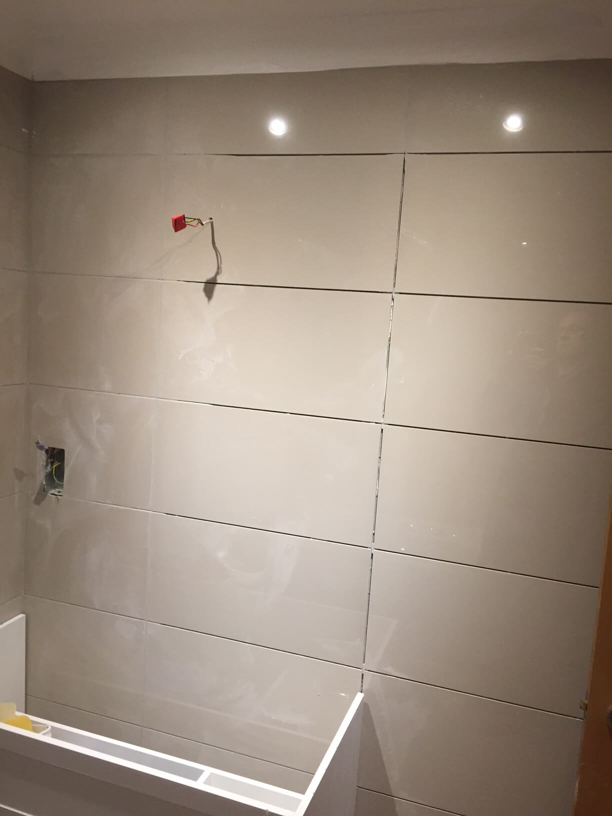 Starting to grout