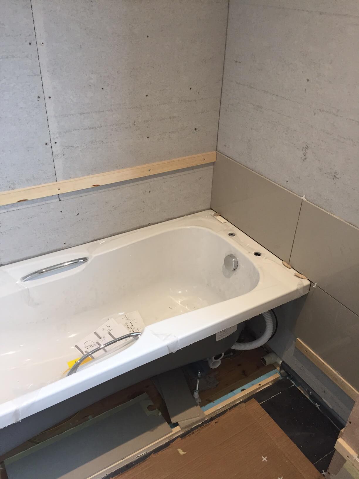 Tiles over the Bath