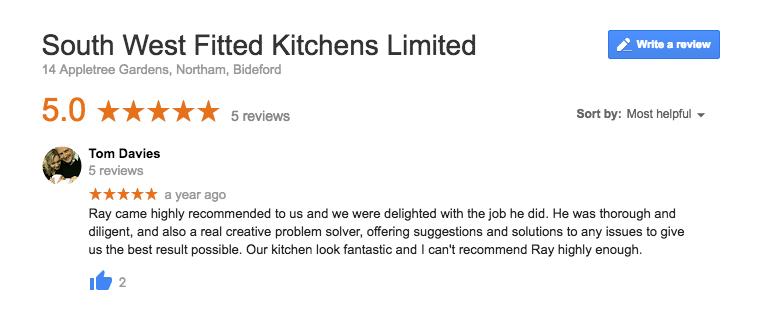 Tom Davies Google Review