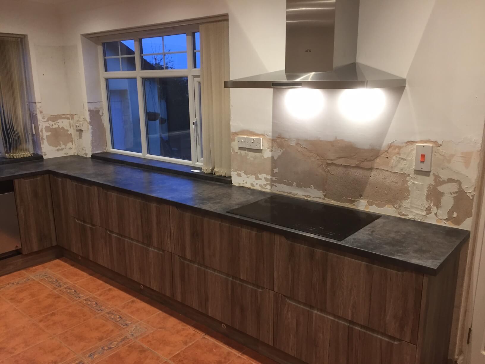 Finished Kitchen worktops