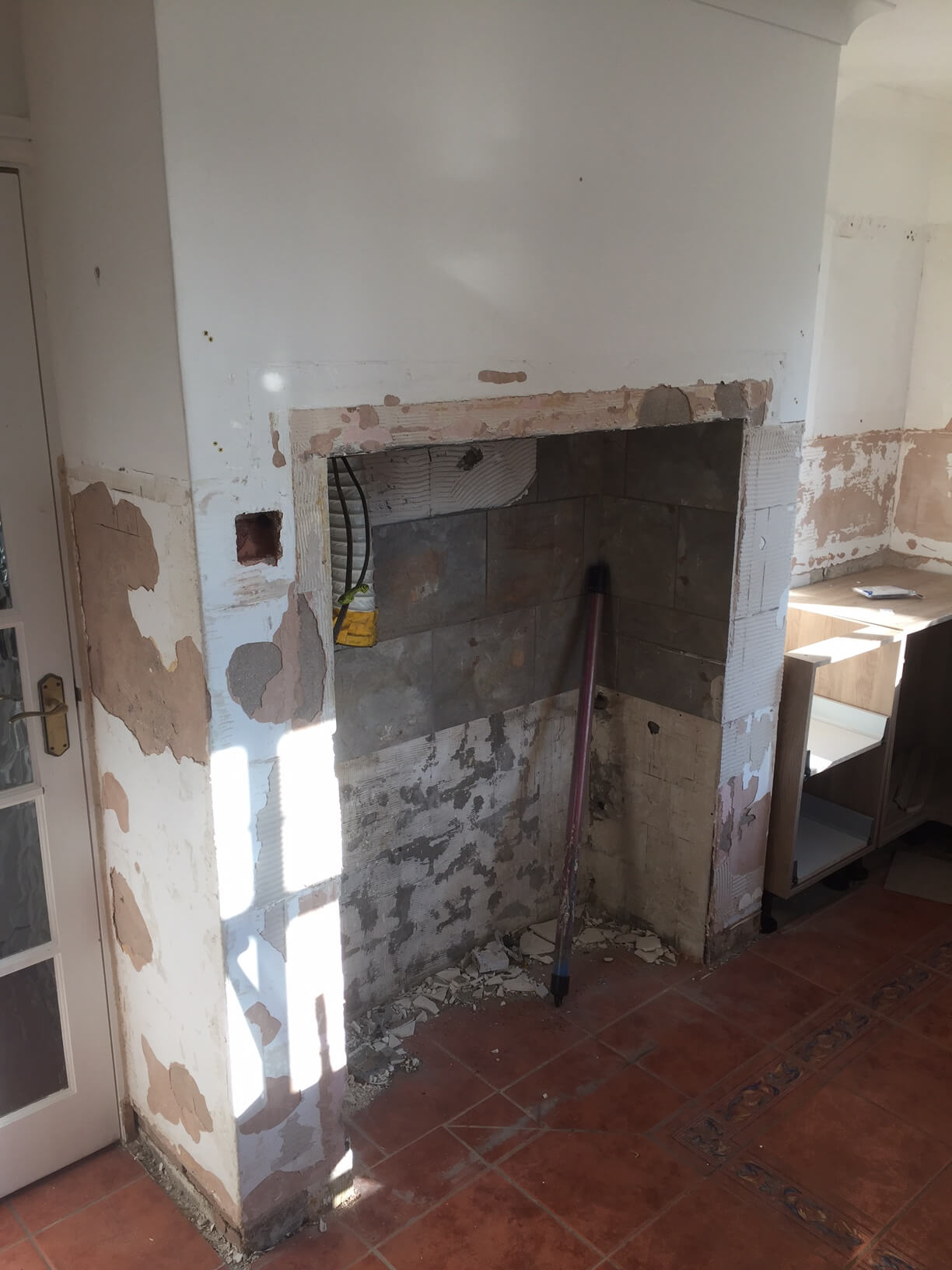 Original Symons Kitchen with the range removed