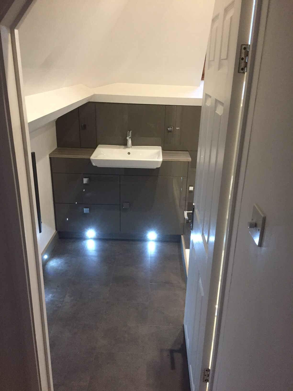 Finished En-Suite Lights on