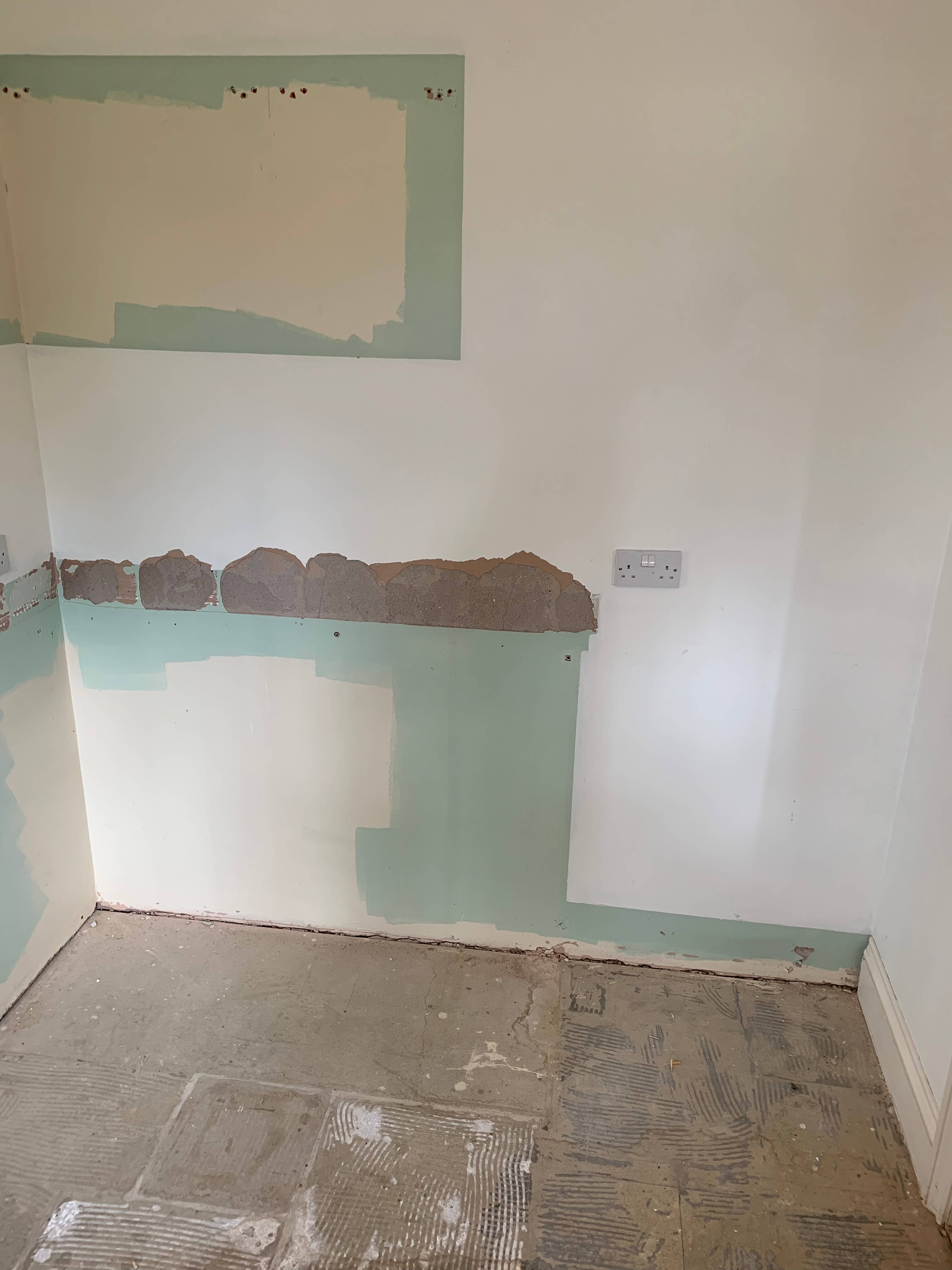 Empty Utility Room ready for the new units