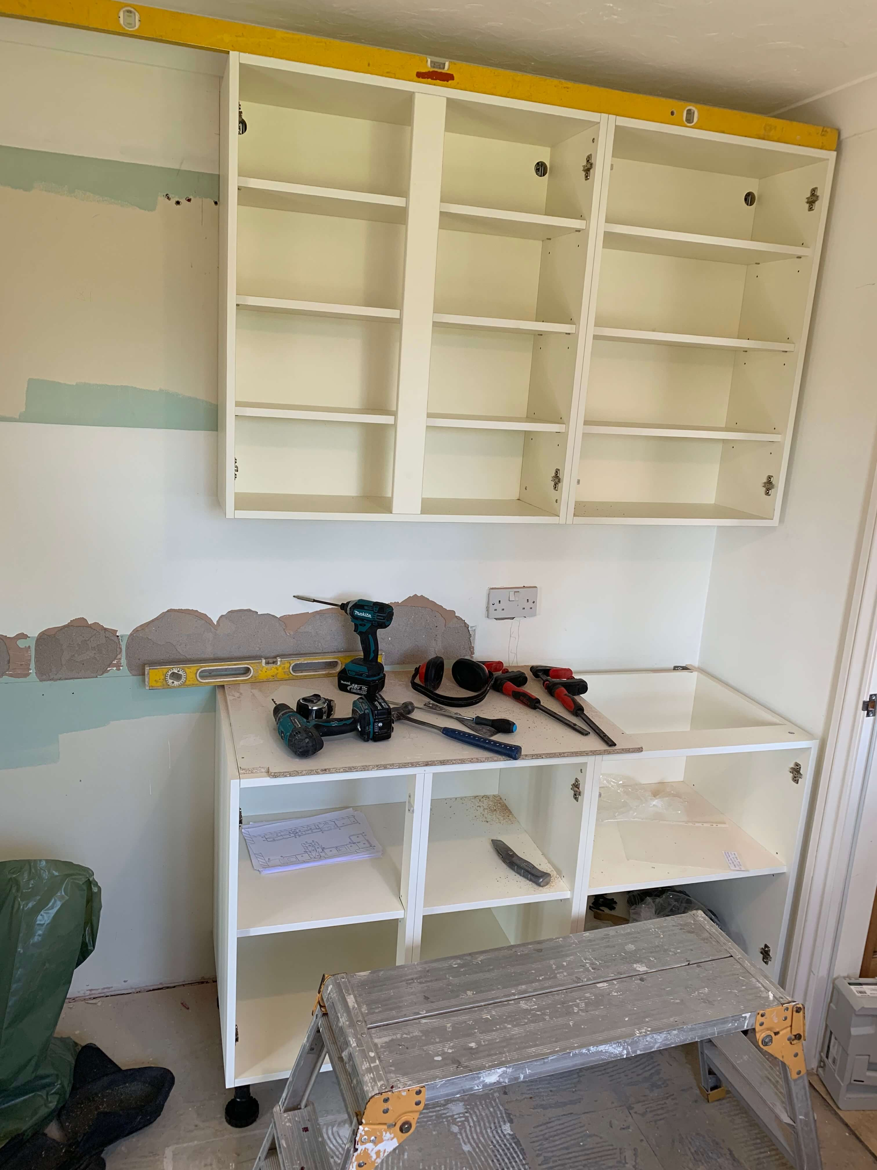 Wall units are now fitted