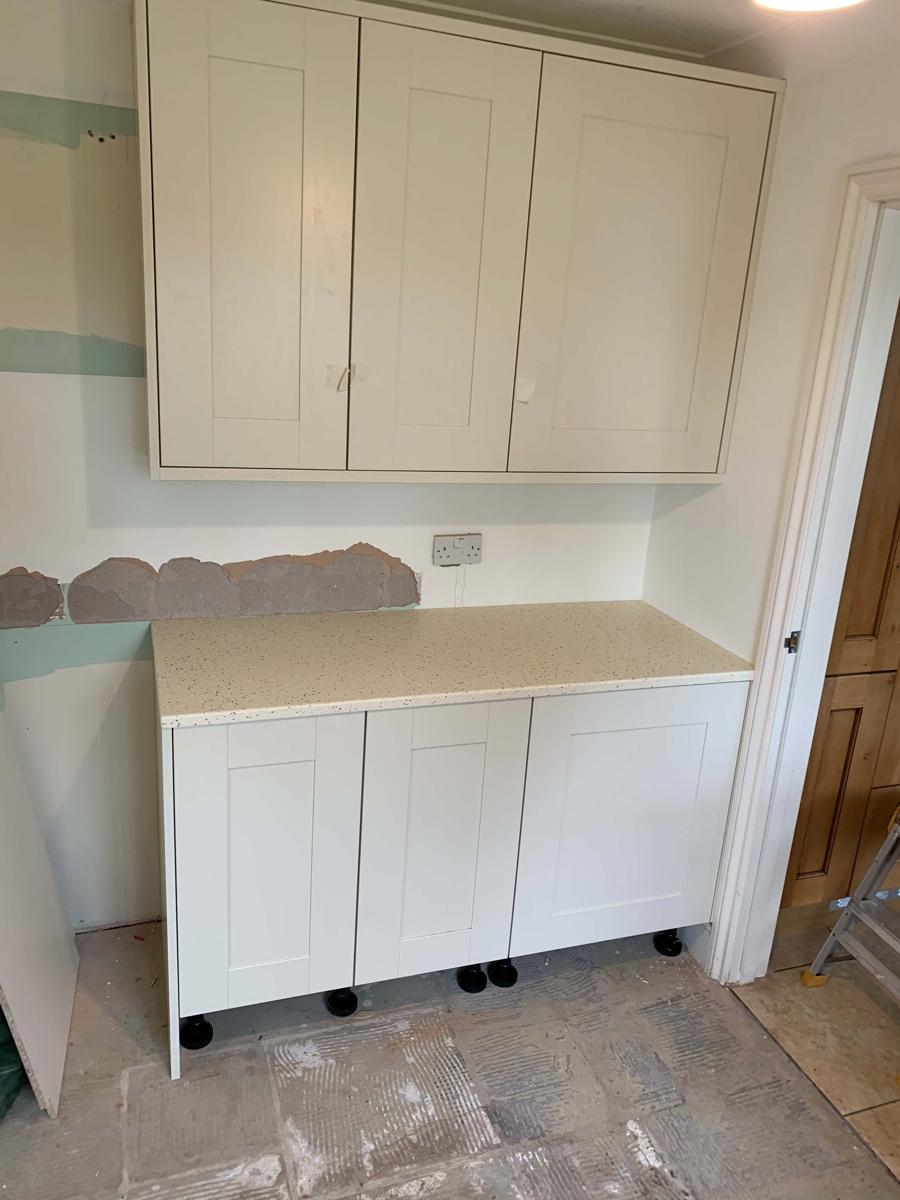 Finished utility units and worktop