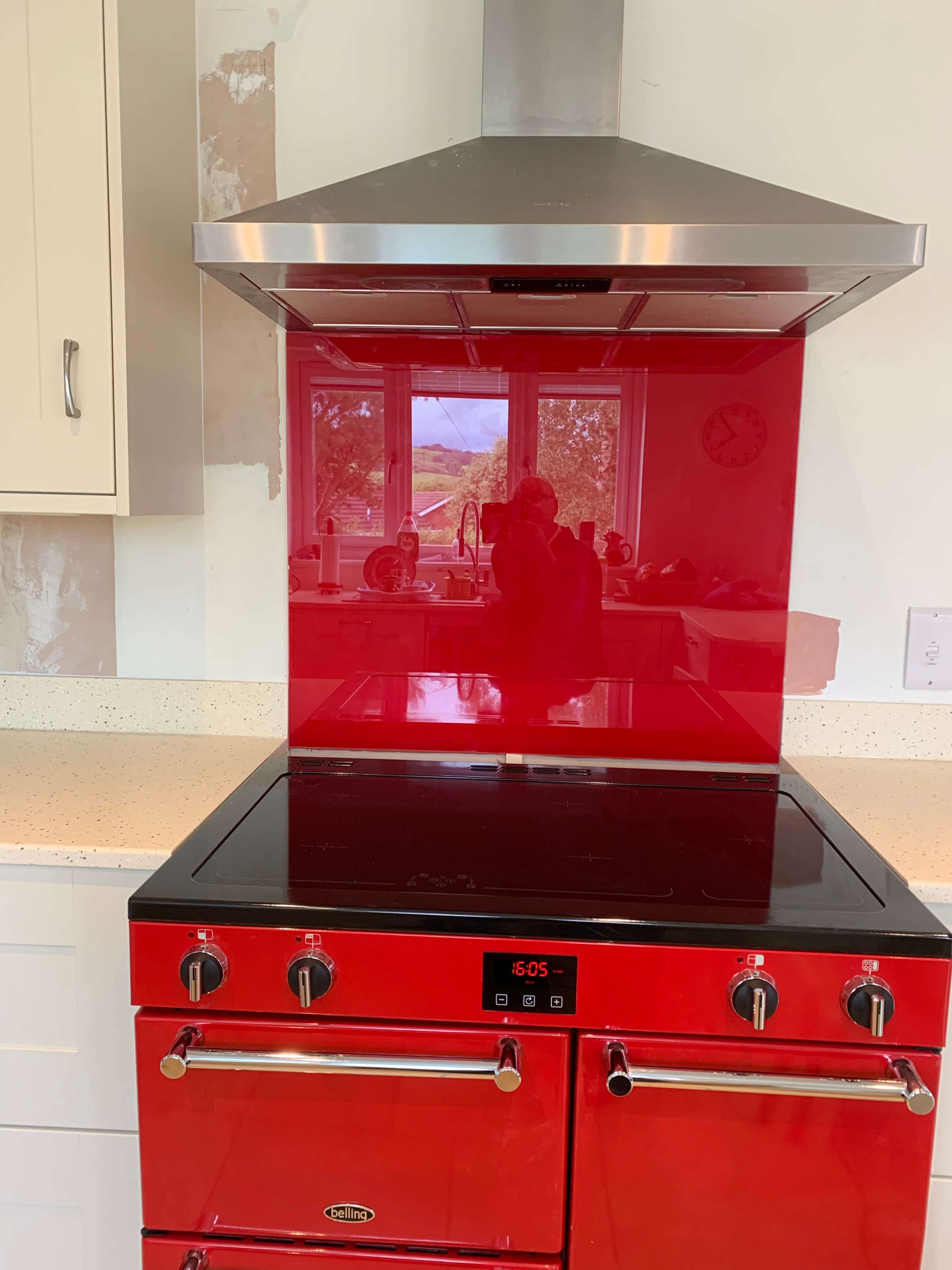 Mr & Mrs A of Swimbridge kitchen Oven Hob and Extractor close up