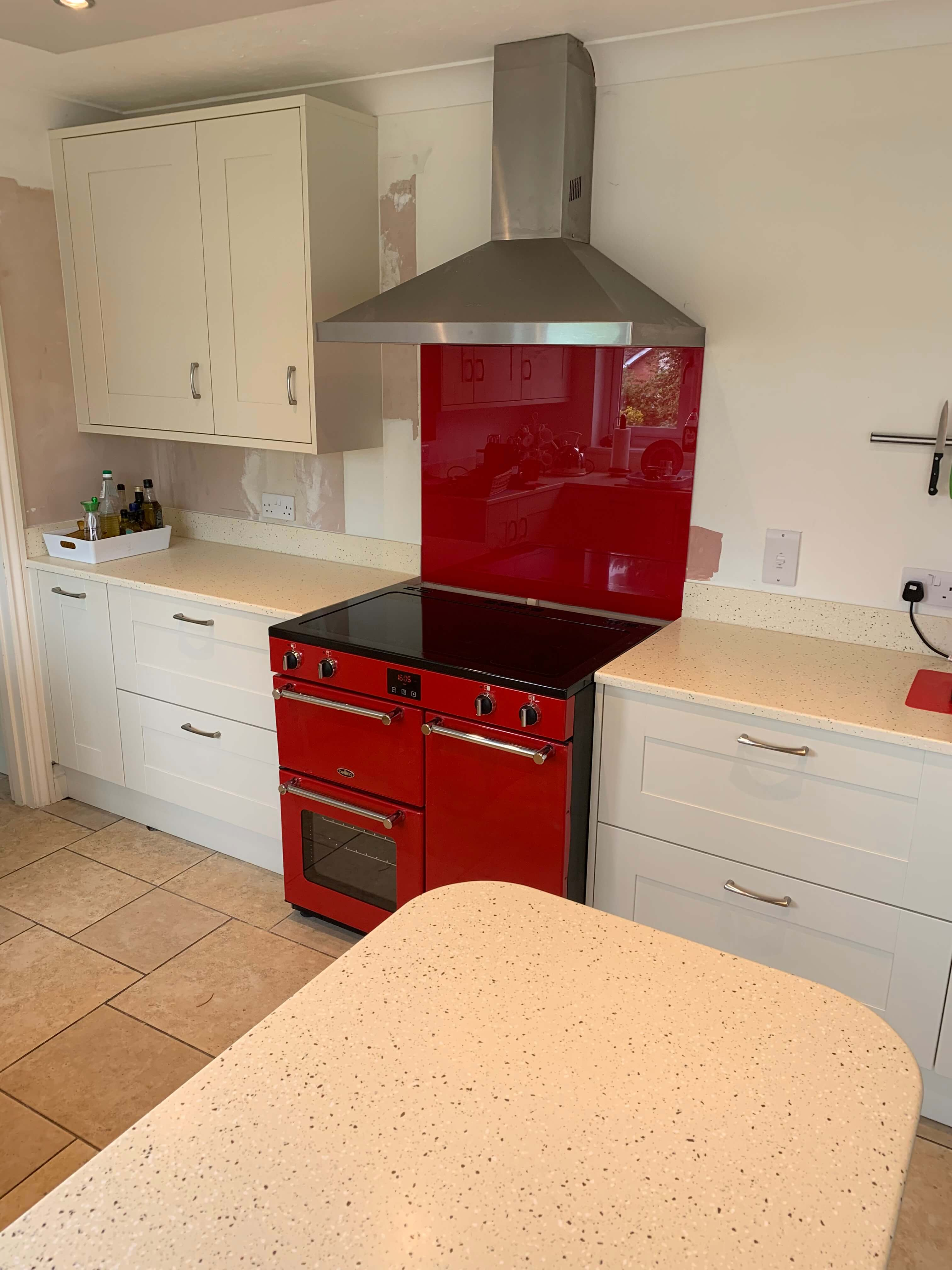 Mr & Mrs A of Swimbridge kitchen Oven Hob and Extractor