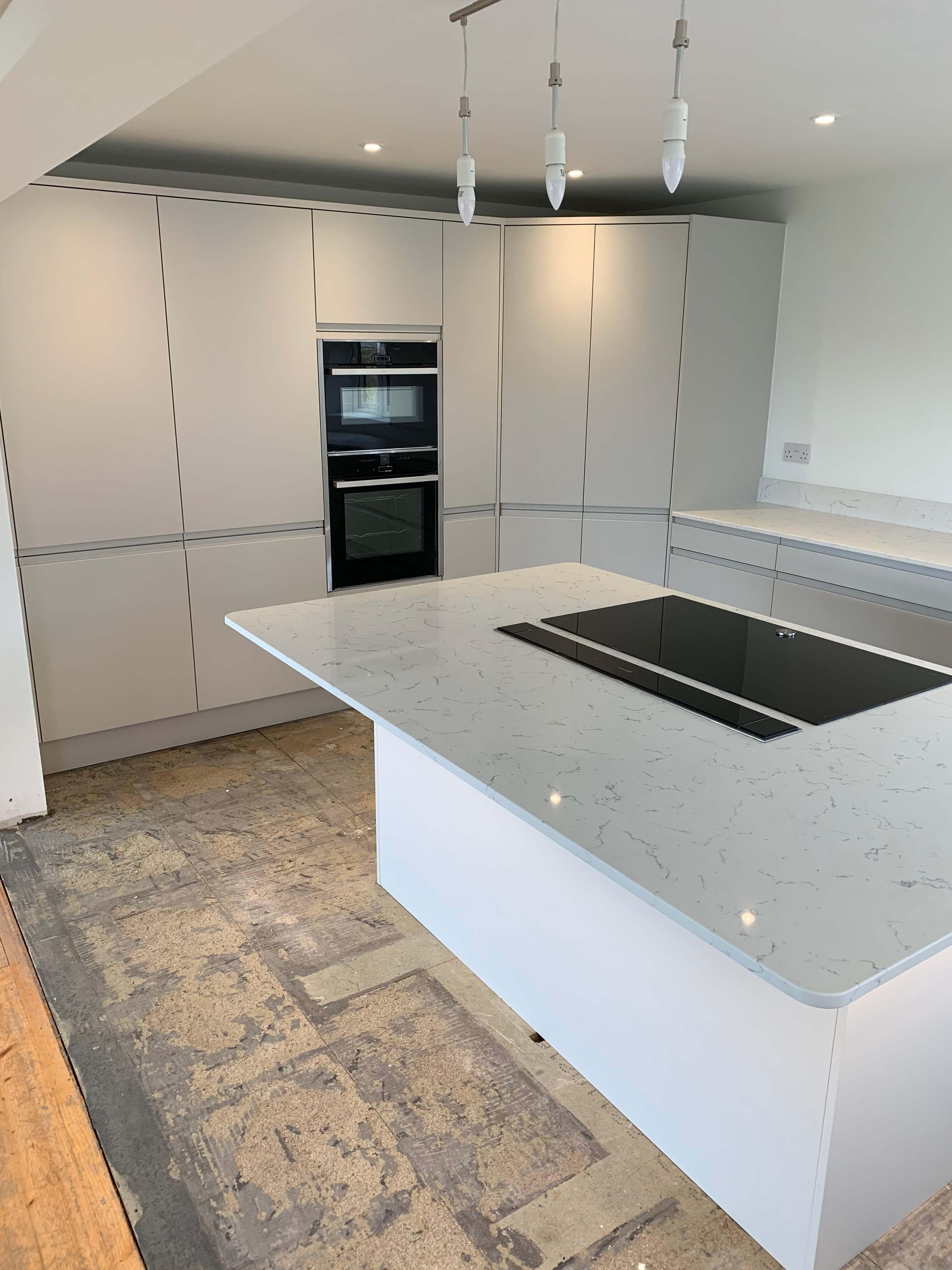 Handless Kitchen in Matt Dove Grey