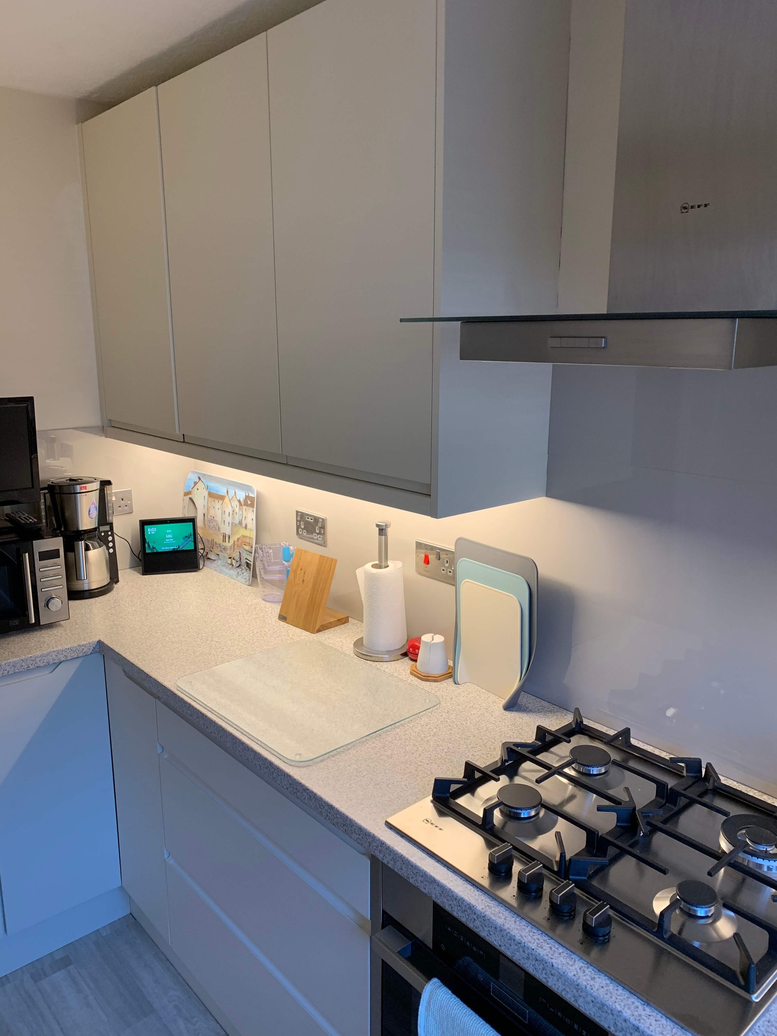Janets new Kitchen hob view