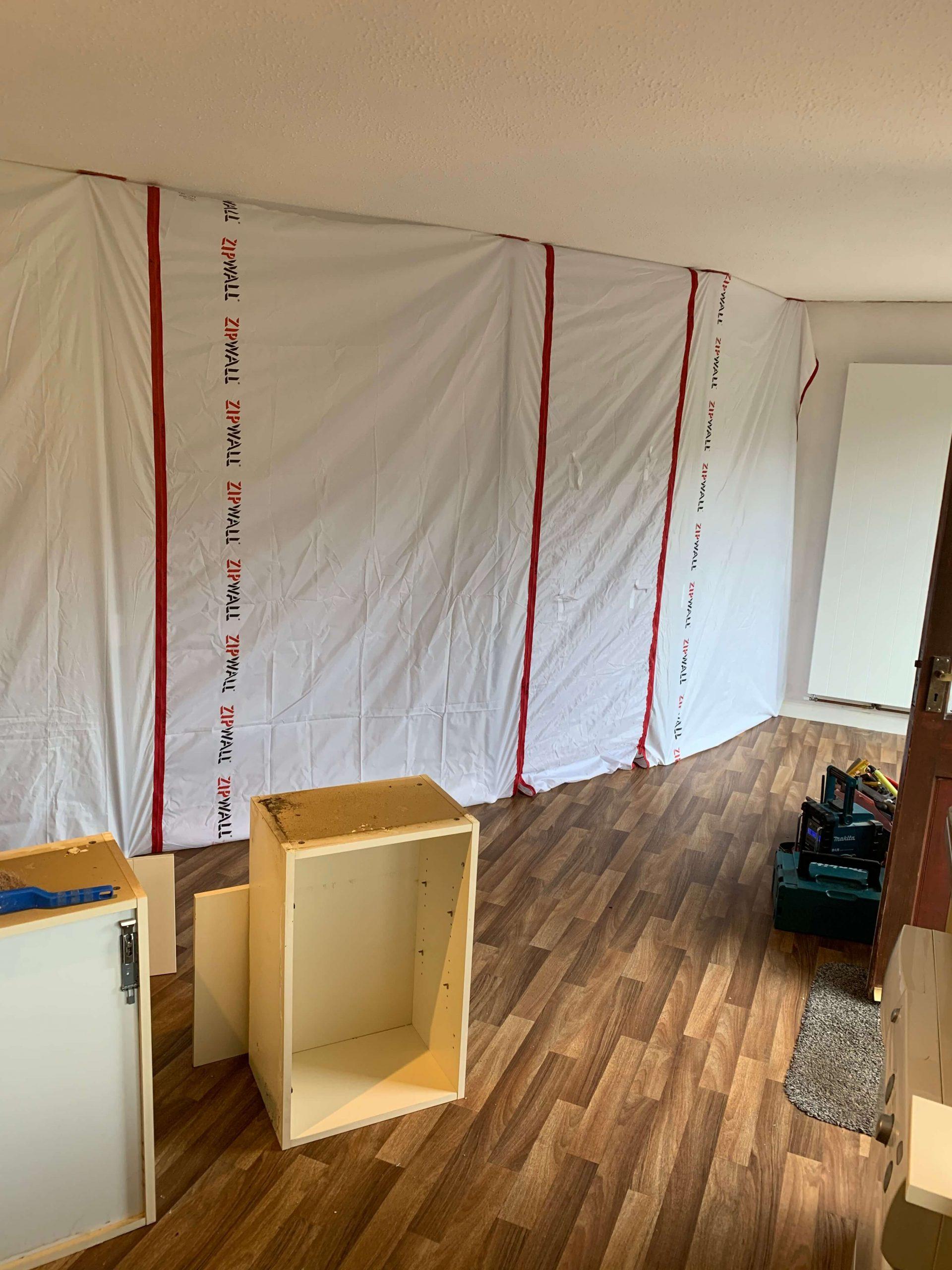 Zipwall dust control wall