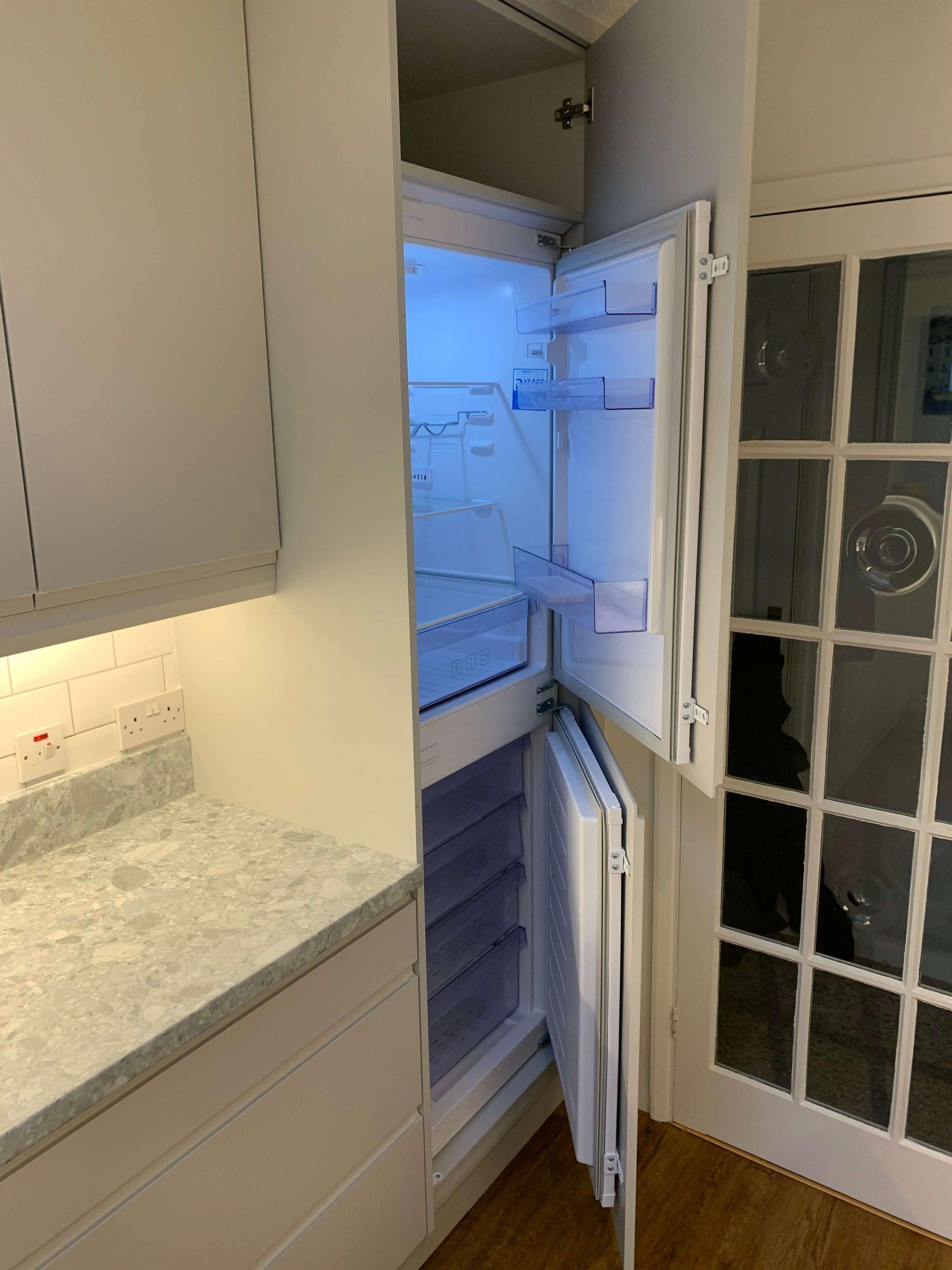 Galley Kitchen Fridge Freezer