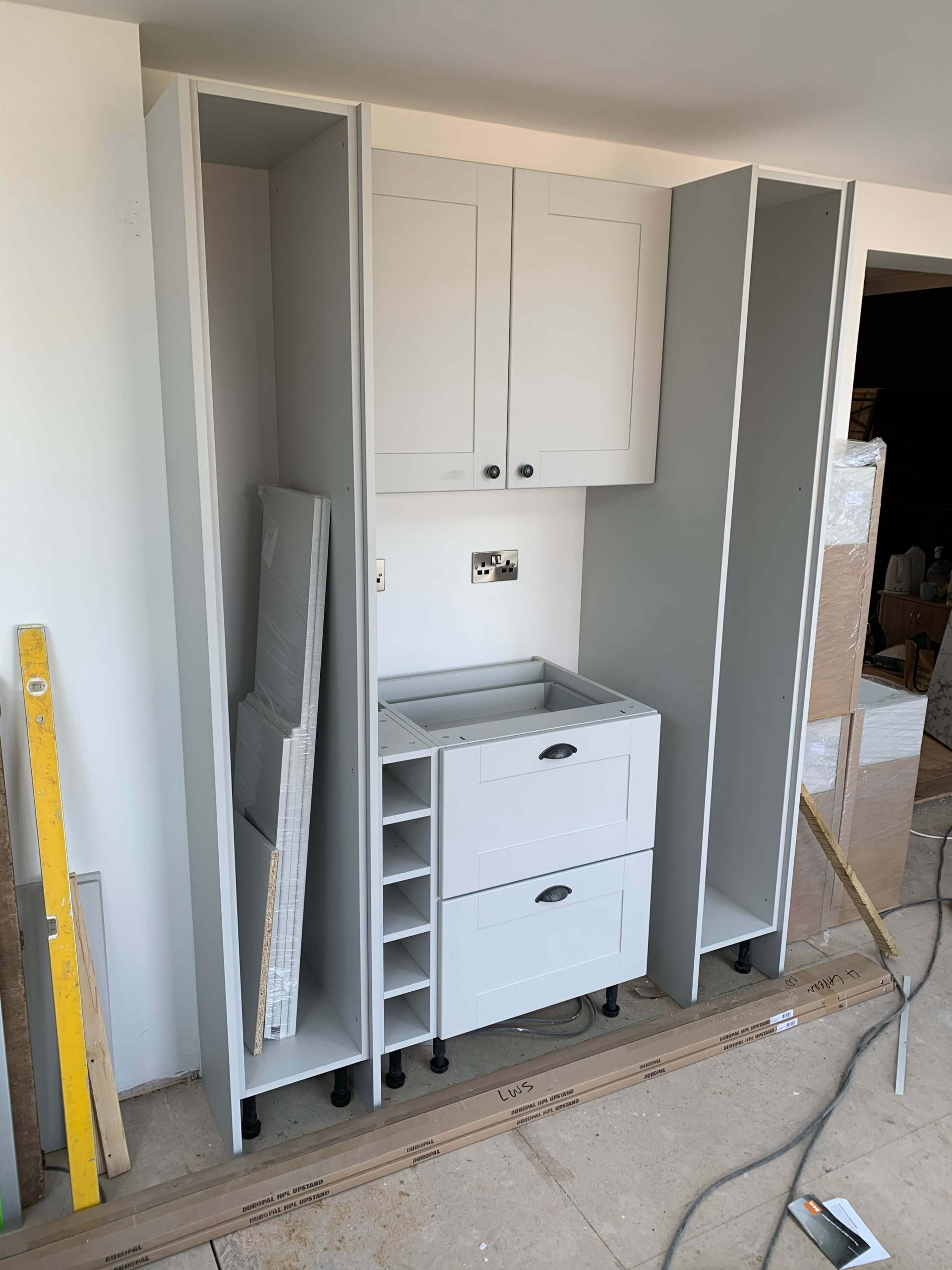 Dresser Area Being Fitted