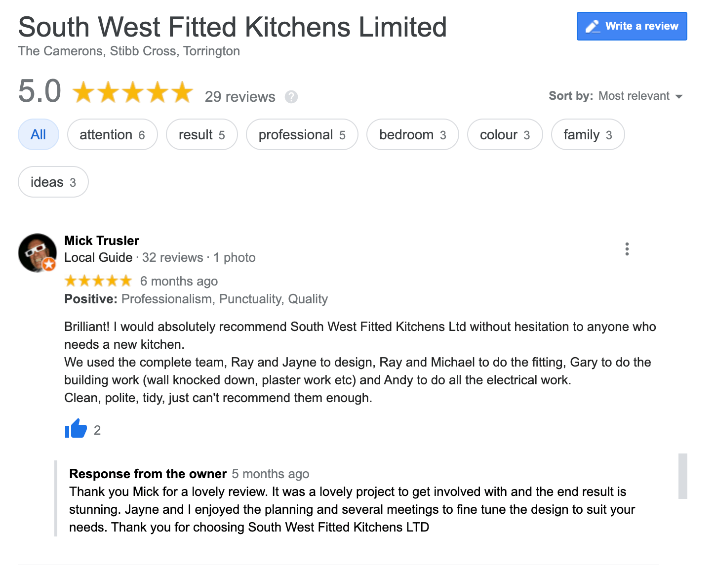 Mick Trusler Kitchen Review